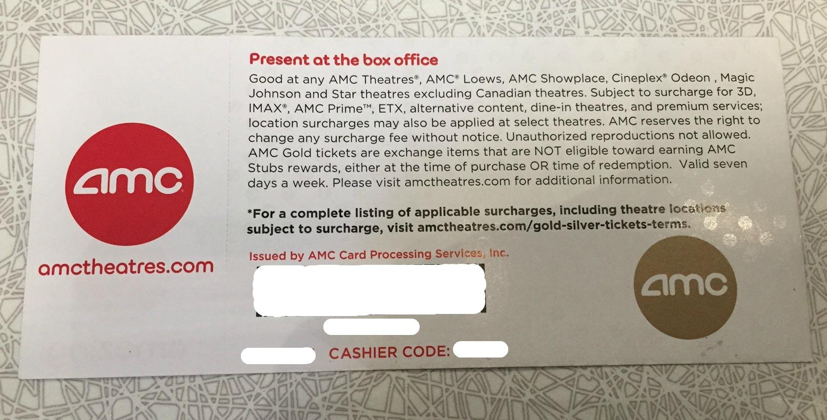 Specials By Restaurant 2 AMC Movie Tickets 25